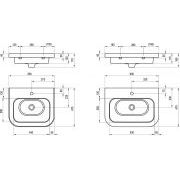 Умывальник Ravak Chrome 650 керамический схема