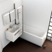 Акриловая ванна Chrome 170x75 в интерьере