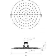 Верхний душ Ravak Chrome круглый 200 мм 984.01 схема