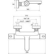 Термостатический смеситель Ravak TE 023.00/150 схема
