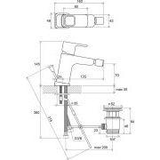 Смеситель для биде Ravak 10° с донным клапаном TD 055.00 схема