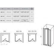 Душевой уголок Ravak SDZ3-100+PSS схема