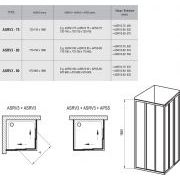 Душевой уголок Ravak ASRV3-90+ASRV3-90 схема