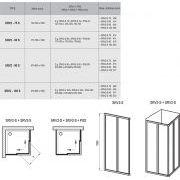Душевой уголок Ravak SRV2-S-75+SRV2-S-90 схема