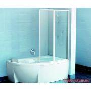 Акриловая ванна Ravak Rosa 95 150x95 P в интерьере со шторкой