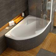 Акриловая ванна Ravak Rosa II 170x105 P в интерьере