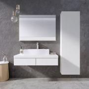 Зеркало Formy 800 белое с подсветкой в интерьере