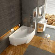Шторка для ванны Ravak CVSK1-140 правая в интерьере