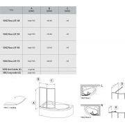 Шторка для ванны Ravak ROSA VSK2-160 левая схема