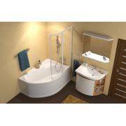Шторка для ванны Ravak ROSA VSK2-150 правая в интерьере