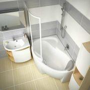 Шторка для ванны Ravak ROSA VSK2-140 левая в интерьере