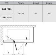 Шторка для ванны Ravak CVS2 правая схема