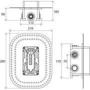 R-box Multi Ravak 071.50 для термосмесителя скрытого монтажа CR 067.00 схема