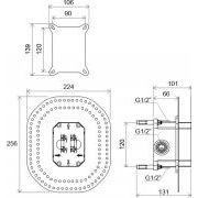 R-box Ravak встраиваемый механизм для смесителей скрытого монтажа схема