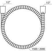 Шланг душевой Ravak 915.02 200 см с оплеткой из нержавеющей стали схема