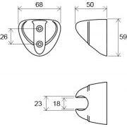 Пластиковый держатель Ravak 610.00 схема