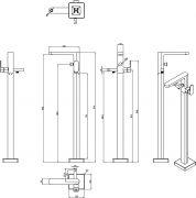 Напольный смеситель для ванны CR 080.00