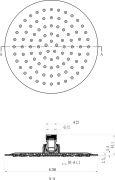Верхний душ Chrome круглый 200 мм 984.01 схема