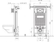 Рама держатель к инсталляции G/1200 схема