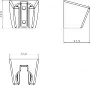 Пластиковый держатель 612.00  схема