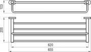 Полка с полотенцедержателем 66 см CR 330.00 схема