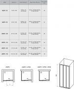 Душевой уголок Ravak ASDP3-120+APSS схема