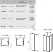 Душевой уголок Ravak SRV2-S-80+SRV2-S-80 схема