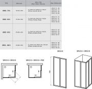 Душевой уголок Ravak SRV2-S-90+SRV2-S-90 схема