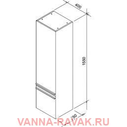 Пенал Ravak SB CLEAR 400 схема